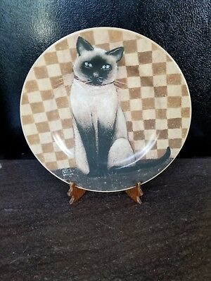 D.C BROWN & CO - Country Kittens Plate - Siamese Kitten/Cat