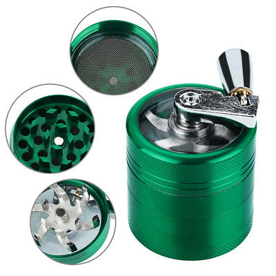 Hand Crank Crusher Tobacco Cutter Grinder Hand Muller Shredder Smoking Case New