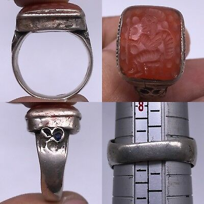 Silver Old Roman Agate Stone Stunning Rare wonderful ring