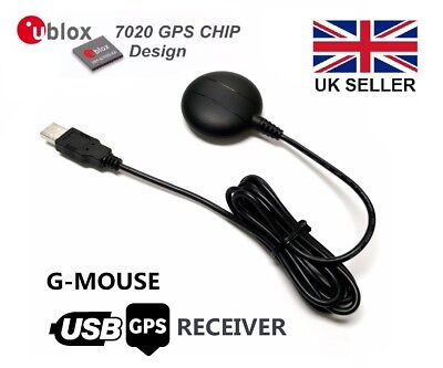 GM-225 USB GPS Receiver with magnetic base, Ublox 7, Win 7/8/10 Linux, Ras Pi
