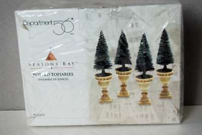Department 56 Seasons Bay Potted Topiaries # 53370 NEW!