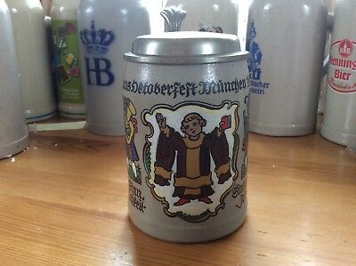 Oktoberfest 125th Year Anniversary 1935 Official Beer Stein Mug Munich Germany