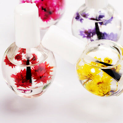 12ML Cuticle Nail Oil Nutrition Revitalizer Treatment Natural Dried Flower Care