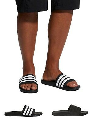 e4905d638 Adidas Men s Adilette CloudFoam Plus-Mono Slides 3-Stripe Comfort Sandals