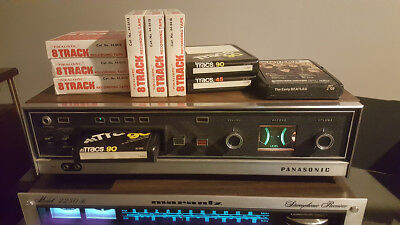 Panasonic 8 Track Player Rec RS-803US Tape Deck Early Beatles +9more WORKS READ!