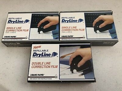 2 Refillable Dryline Single Line and 1 Refillable Dryline Double Line Cor Film