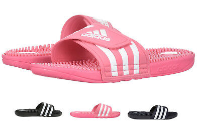 f6ecafa6a670b Adidas Originals Women s Essentials Adissage Slides 3-Stripe Comfort Sandals