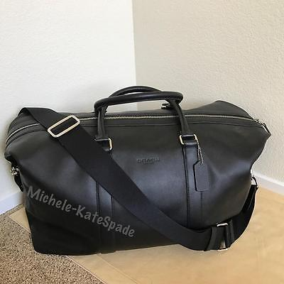 ** SALE **NWT COACH Men's Voyager 52 Sport Calf Leather DUFFLE Travel Bag F54802