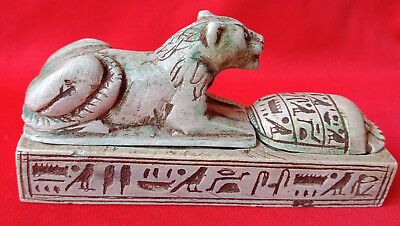 Egyptian Antiques Ancient Box of Secrets Rare Figurine
