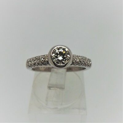 18Ct White Gold Diamond Ring Valued @$2721 .640Ct  Comes With Valuation