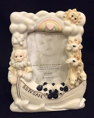 """Lenox SS. Noah's Ark Baby Picture Frame 3 1/2""""X 5"""""""