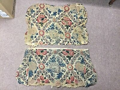 ESTATE Antique French Aubusson Tapestry Settee Seat Cover And Back