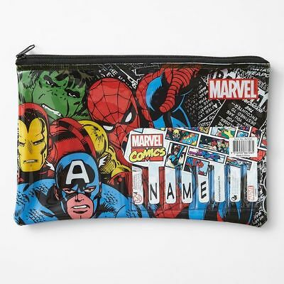NEW Marvel Comics Pencil Case With Name Kids
