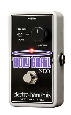EHX Electro-Harmonix Holy Grail Neo Reverb Guitar Effects Pedal