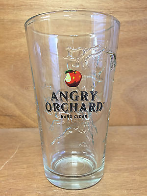 Angry Orchard Hard Cider Molded 3D Tree 16 oz Pint Glass ~ Set Of Four (4) ~ NEW