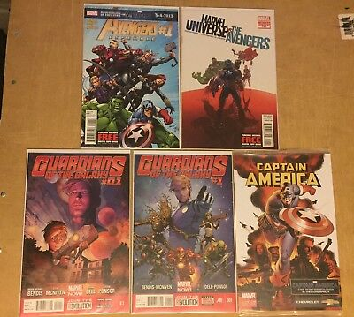 Marvel Lot Avengers Assemble 1 Guardians Of The Galaxy 0.1 & 1 + More Nm