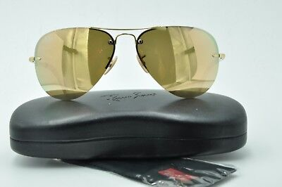 af56723361df0 Ray Ban RB 3449 Sunglasses 001 2Y Gold Aviator Rose Mirrored Lenses 59mm