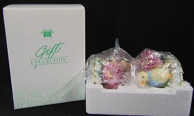 2003 Avon Springtime Taper Candle Holders Duck & Bunny New In Box