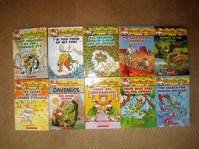 Geronimo Stilton Lot Of 10 Paperback Young Reader READING COUNTS Chapter Books