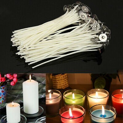 30Pcs Candle Wicks Cotton Core Pre Waxed Wick With Sustainer Candle Making DIY