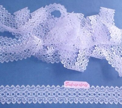 14.40   metres  of   White    Eyelet   Lace   35  mm  Wide