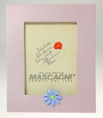 MASCAGNI Picture Frame 8x13 cm Table ceramic color Periwinkle