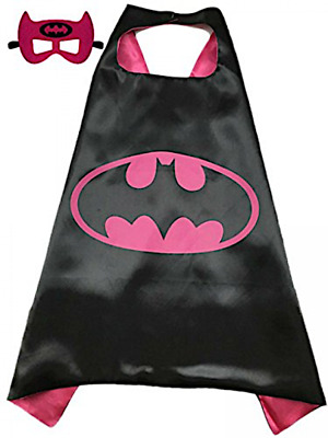 Batgirl Costume Cape and Mask Set Kids Superhero Batgirl Batman Girls Dress Up