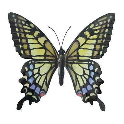Primus Large Metal Butterfly - Yellow Garden Wall Art Ornament Indoor / Outdoor