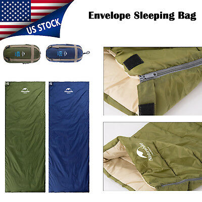 Single Envelope Sleeping Bag Lightweight Waterproof Season Camping Hiking Blue