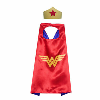 Wonder Woman Costume Cape and Mask Set Kids DC Comic Superhero Girls Dress Up