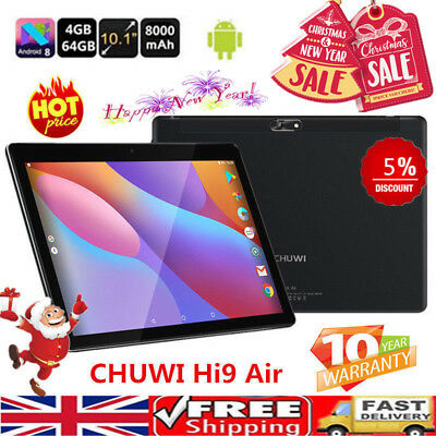 10.1 Inch CHUWI Hi9 Air Tablet PC Android 8.0 Deca Core 4GB+64G Dual Camera WiFi