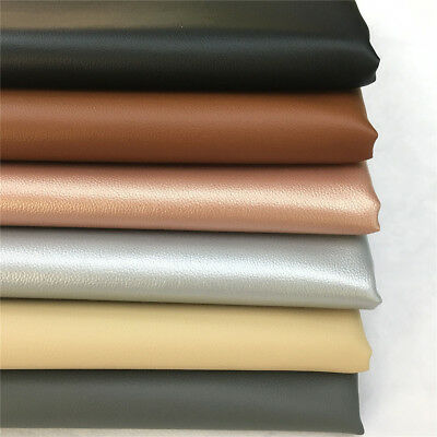Synthetic Leather Vinyl Upholstery Fabric Vancouver Black Soft Hand