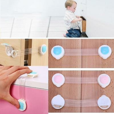 Adhesive Child Kids Baby Cute Safety Lock For Door Drawers Cupboard Cabinet PKC