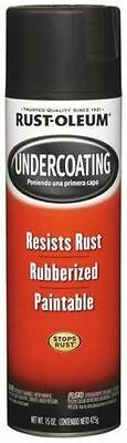 3 Cans of Rustoleum 248657 15 Oz Black Rubberized Undercoating Spray Paint