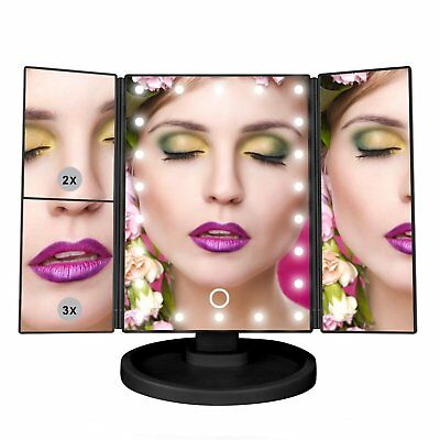 Makeup Vanity with 21 LED Lights - 3X/2X Magnifying Makeup Vanity Mirror