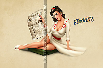 84 Sexy Art Decal Sticker Pin Up Girl Hot Wwi Wwii World War Babe Sexy Legs