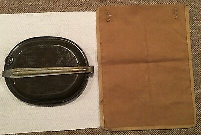 Original US Army Enlisted M1885 Tan Canvas Meat Bag with Tin Meat Can