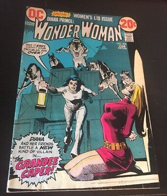 Wonder Woman #203 (1972, DC) VG/FN Women's Lib Issue Bondage Cover Giordano Art