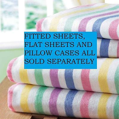 Bedding Heaven Flannelette Candy Stripe Brushed Cotton Sheets. Sold Separately.