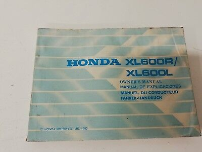 Libretto Manual uso manutenzione use maintenance Multilingua HONDA XL 600 R L 83