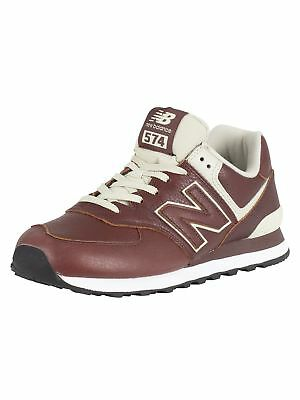new balance brown leather