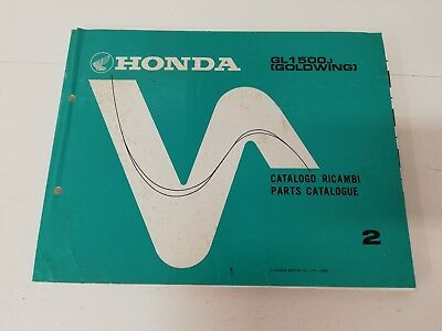 Manual manuale spaccato ricambi spare parts ita ing HONDA GL 1500 J GOLDWING 88