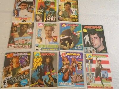 Afisorama  Lot  11 Rare Greek Poster Stallone Tom Cruz  A-Ha Travolta