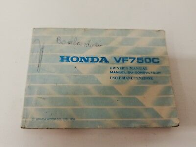 Libretto Manual uso manutenzione use maintenance Multilingua HONDA VF 750 C