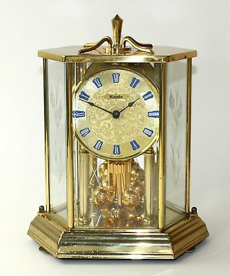 Vintage Kundo 400 Day Anniversary Clock - Battery Operated - Parts/repair Tr65