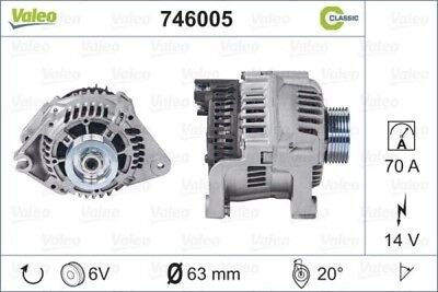 VALEO Lichtmaschine Generator LiMa Alternator REMANUFACTURED CLASSIC 746005