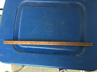 "Vintage 18"" Wooden Advertising Ruler Baldwin 3-1913 Long Island Furniture House"