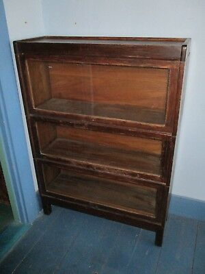 Anitque 3 Section Barrister Bookcase, Lundstrom, Little Falls, NY - Top & Base!