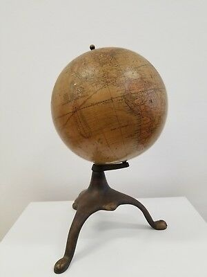 RARE Antique 1891 Peerless Globe G.W. Bacon Central School Supply House Chicago