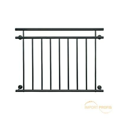 Juliet french balcony railing window grille steel guardrail 90x128cm anthracite